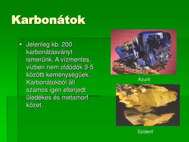 Karbonátok