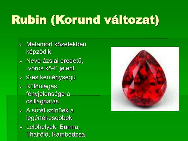 Rubin (Korund változat)