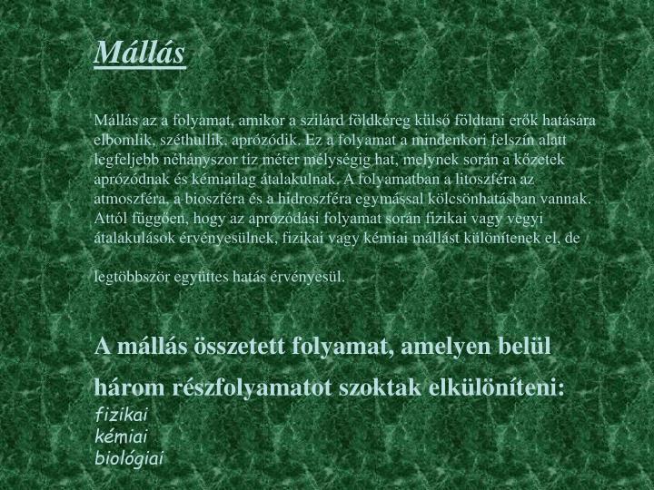 Mállás