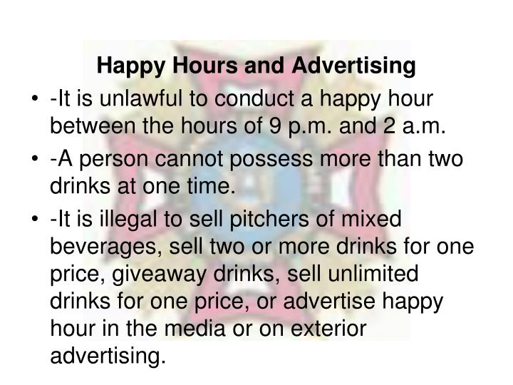 Happy Hours and Advertising