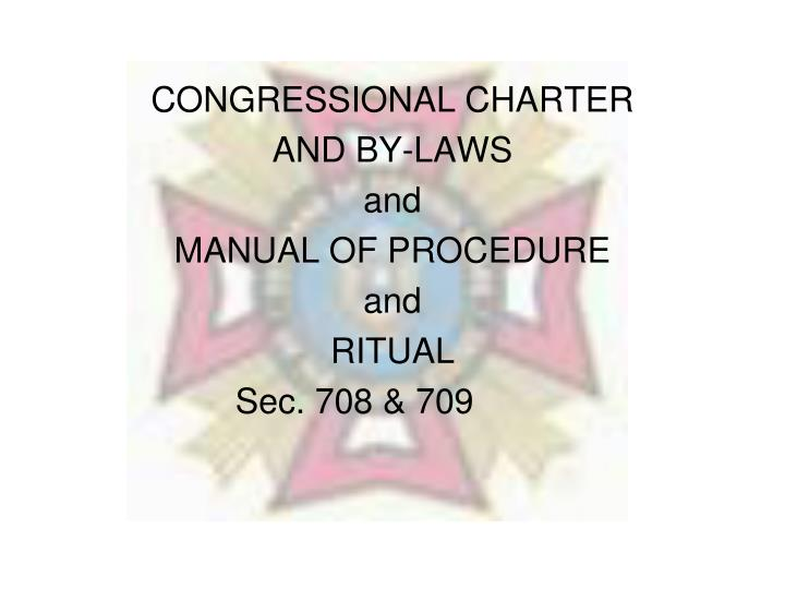 CONGRESSIONAL CHARTER