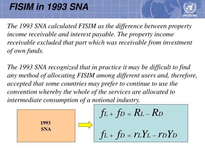 FISIM in 1993 SNA