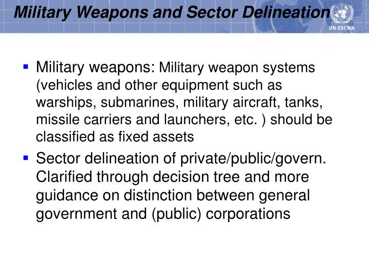 Military Weapons and Sector Delineation
