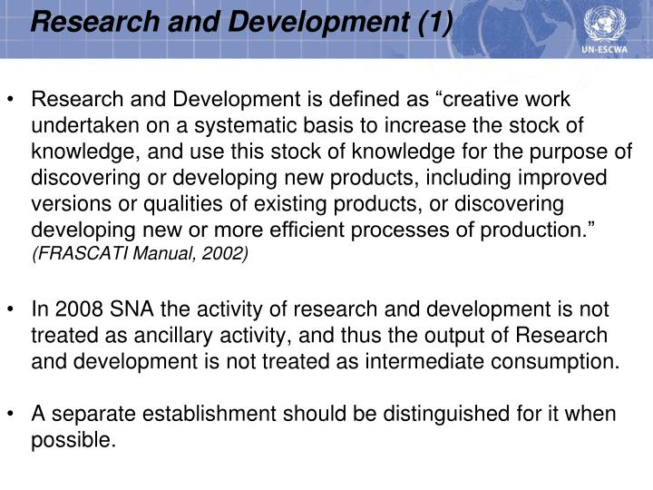 Research and Development (1)