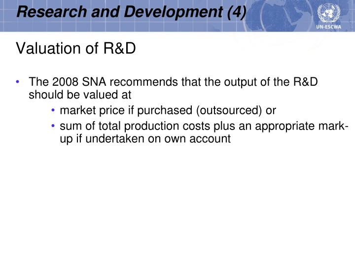 Valuation of R&D