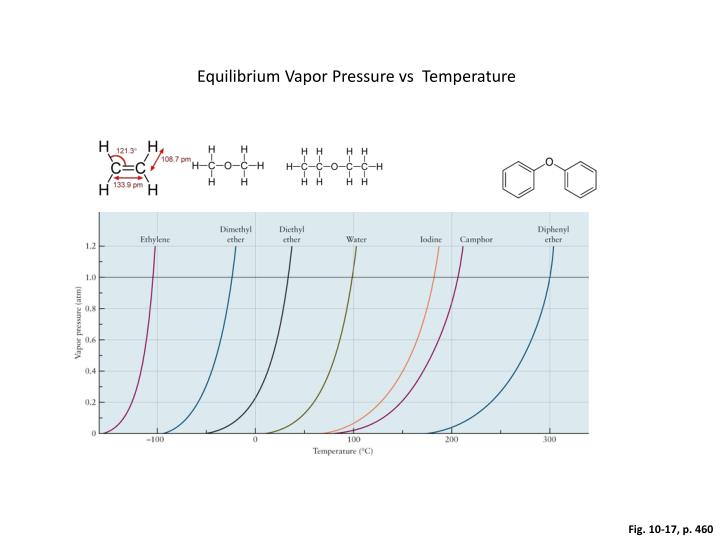 Equilibrium Vapor Pressure vs  Temperature