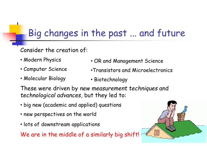 Big changes in the past ... and future