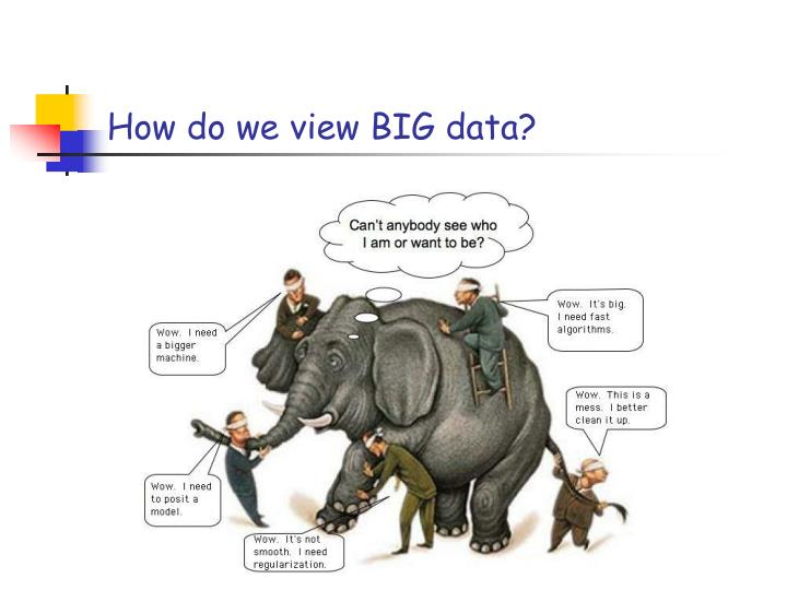 How do we view BIG data?