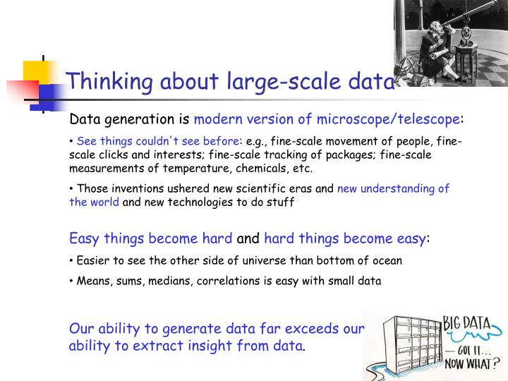 Thinking about large-scale data