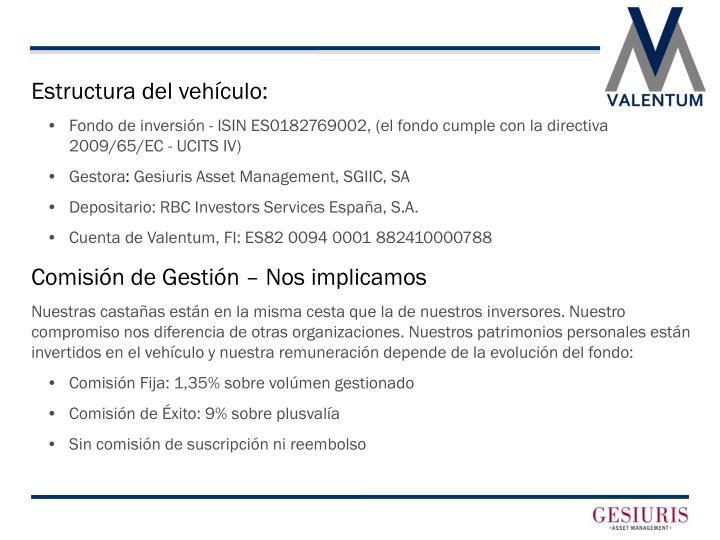 Estructura del vehículo: