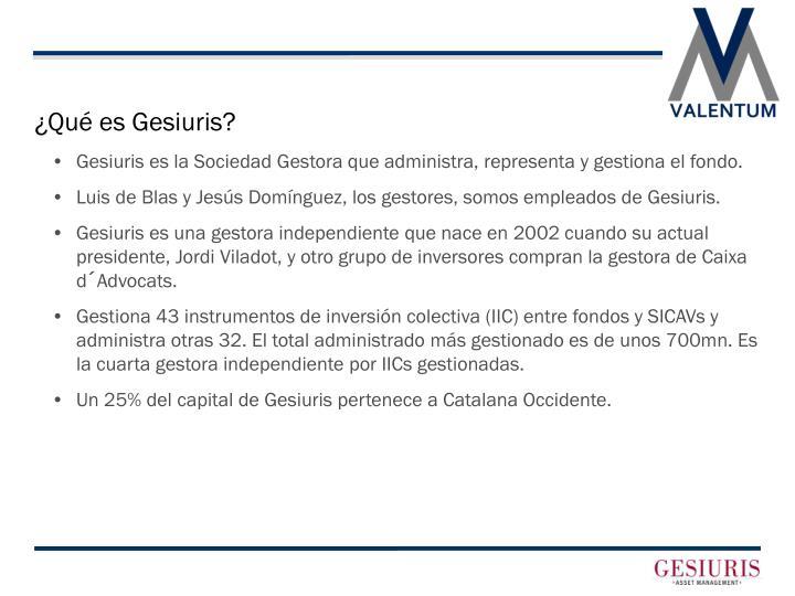 ¿Qué es Gesiuris?