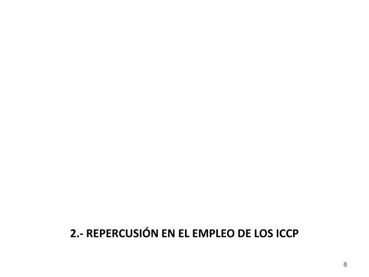 2.- REPERCUSIÓN EN EL EMPLEO DE LOS ICCP