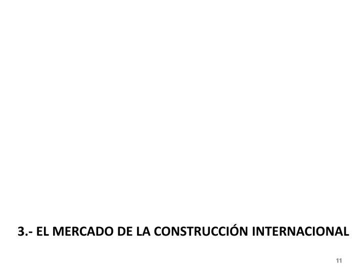 3.- EL MERCADO DE LA CONSTRUCCIÓN INTERNACIONAL