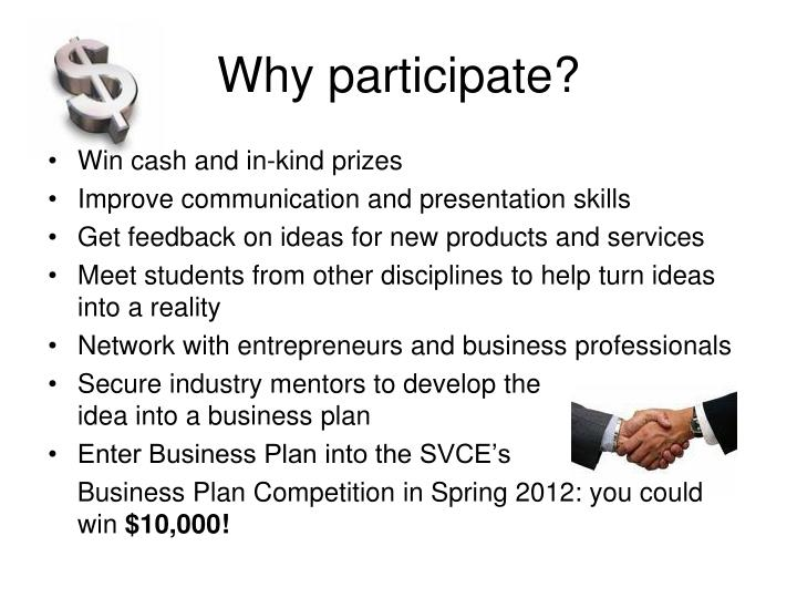 Why participate?