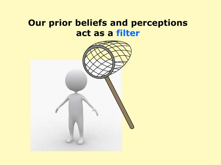 Our prior beliefs and perceptions
