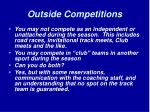 outside competitions