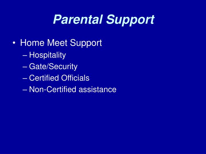 Parental Support