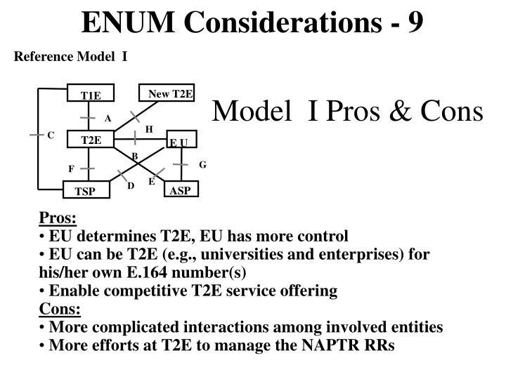 ENUM Considerations - 9