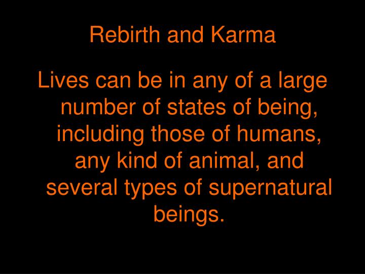 Rebirth and Karma