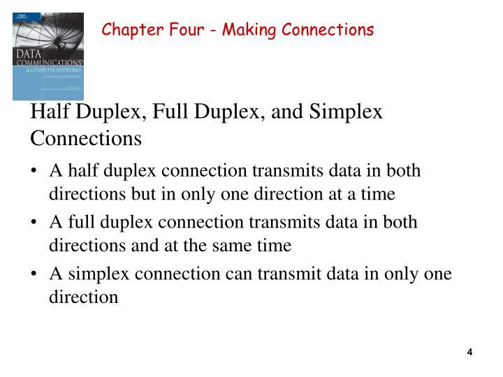 Half Duplex, Full Duplex, and Simplex Connections