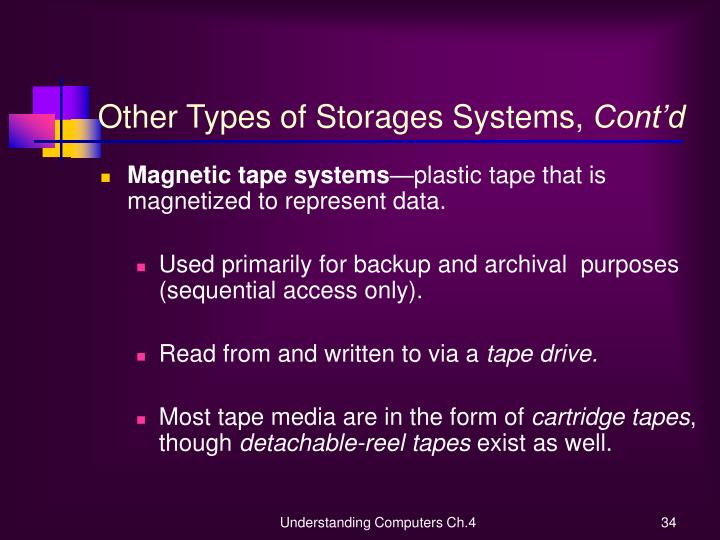 Other Types of Storages Systems,