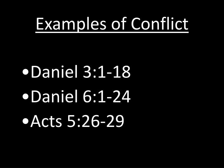 Examples of Conflict