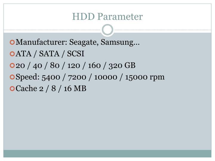 HDD Parameter