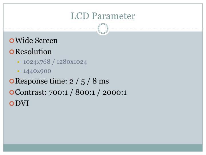 LCD Parameter