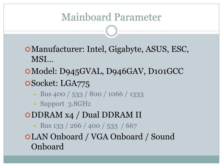 Mainboard Parameter