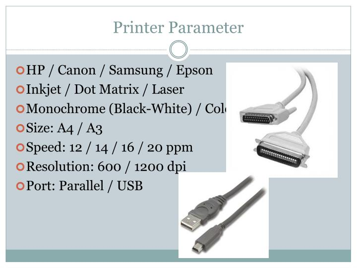 Printer Parameter
