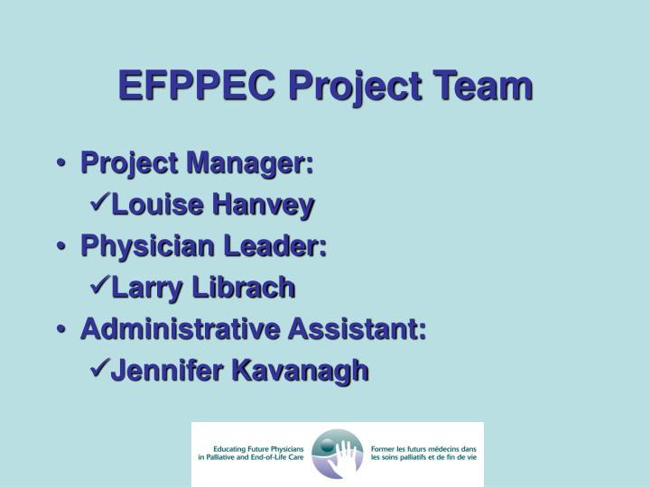 EFPPEC Project Team