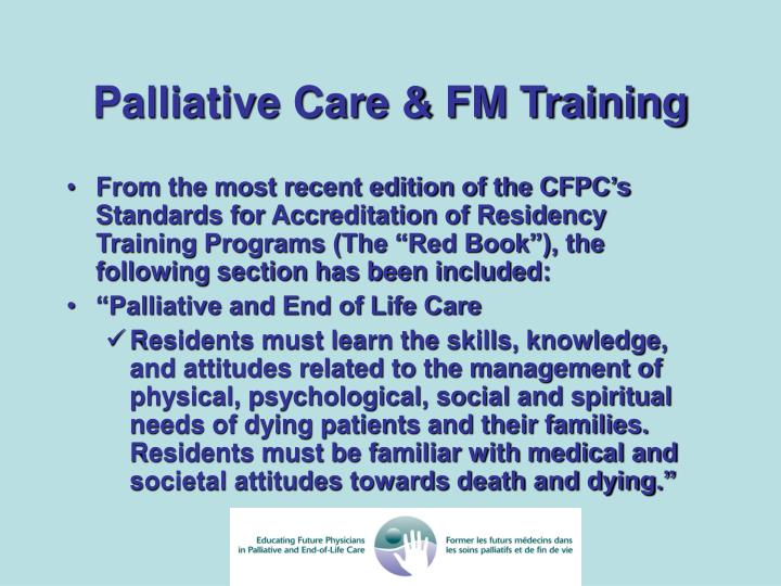 Palliative Care & FM Training