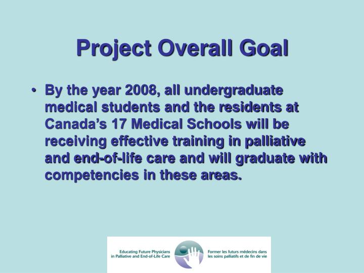 Project Overall Goal