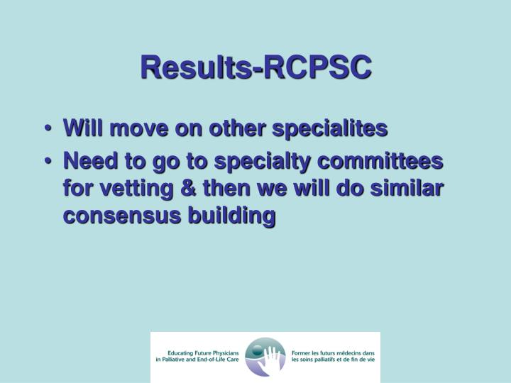 Results-RCPSC