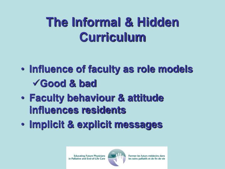 The Informal & Hidden Curriculum