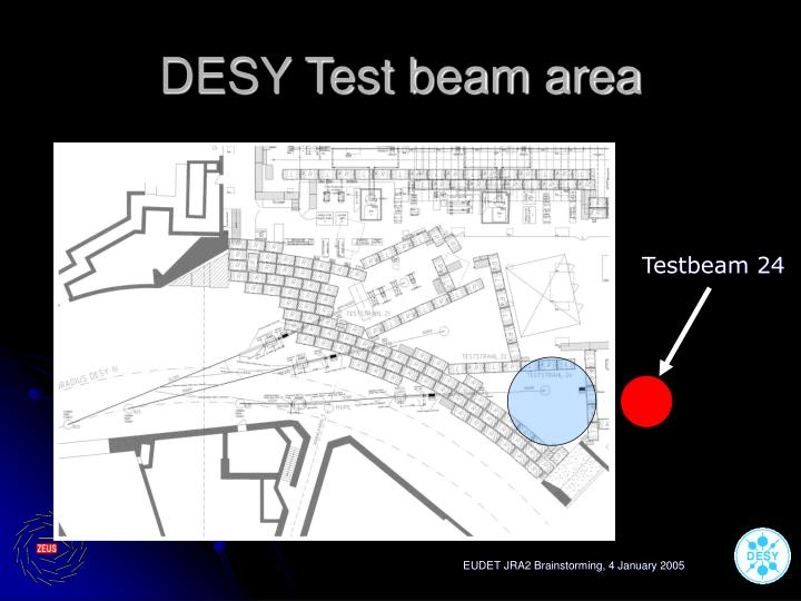 DESY Test beam area