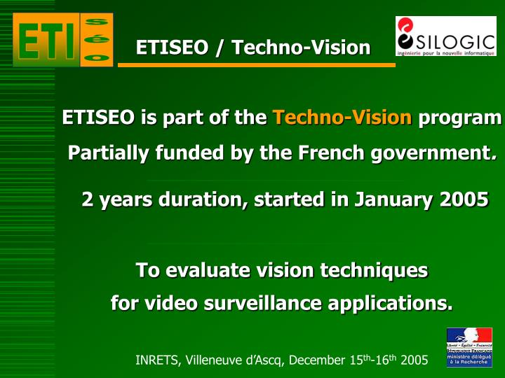 ETISEO / Techno-Vision