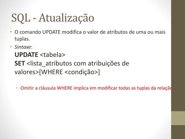 SQL - Atualização
