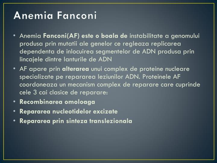 Anemia Fanconi