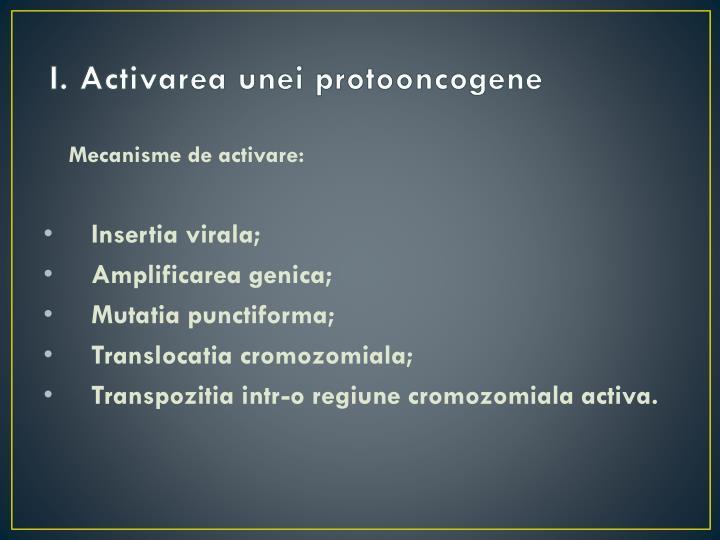 I. Activarea unei protooncogene