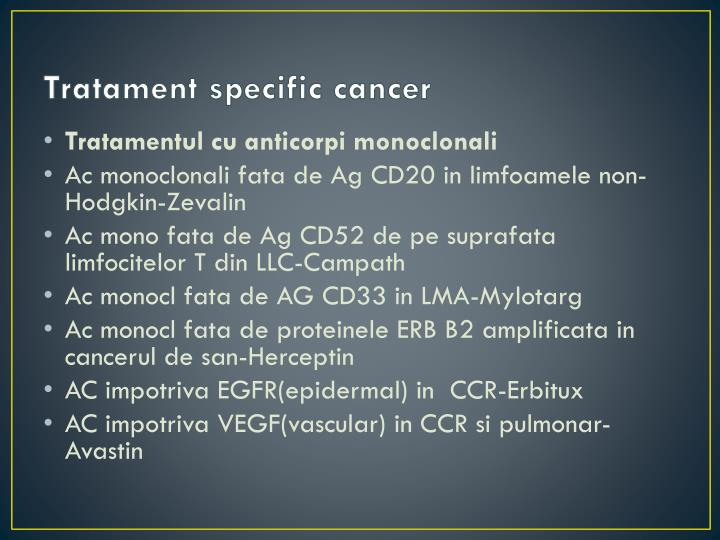 Tratament specific cancer