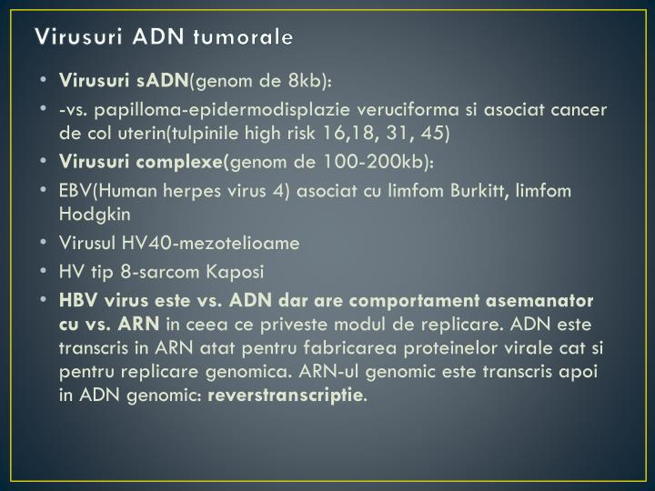 Virusuri ADN tumorale