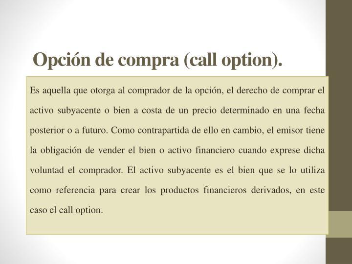 Opción de compra (
