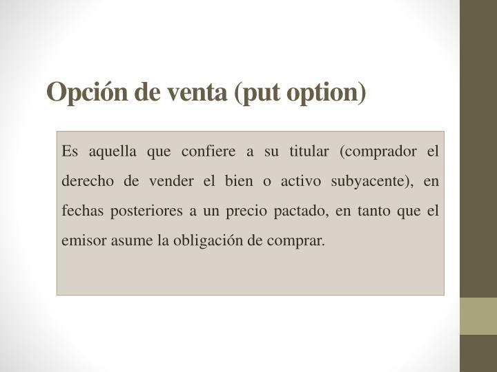 Opción de venta (