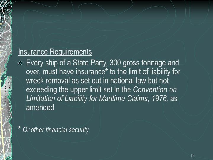 Insurance Requirements