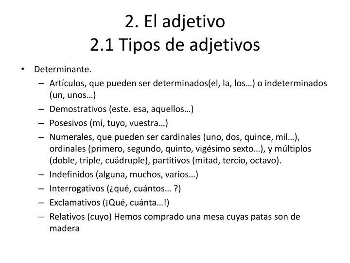 2. El adjetivo