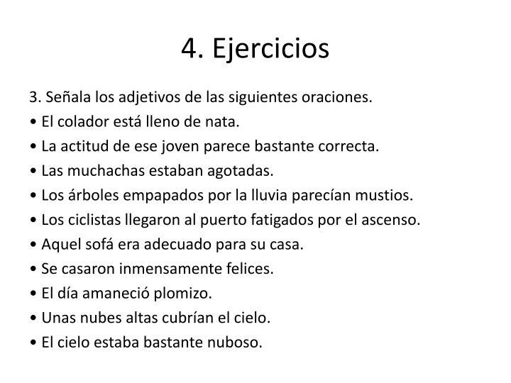 4. Ejercicios