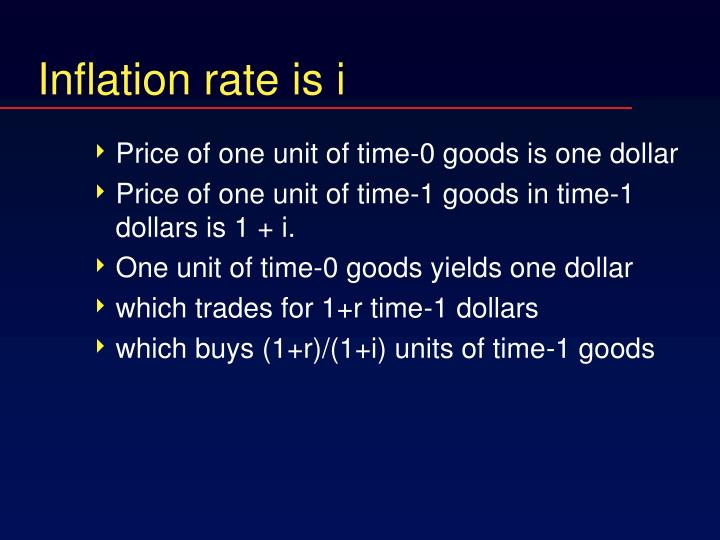 Inflation rate is i