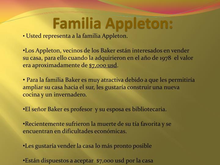 Familia Appleton: