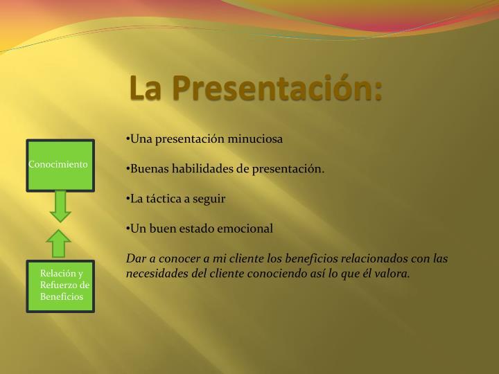 La Presentación: